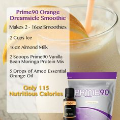 Zija Vanilla Bean & Ameo Orange Smoothie