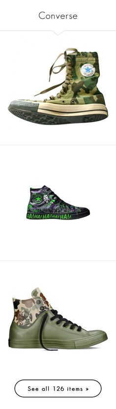 """""""Converse"""" by oxwhatsernamexo ❤ liked on Polyvore featuring shoes, sneakers, converse trainers, converse sneakers, converse footwear, converse shoes, camo rubber boots, camo rain boots, star sneakers and camouflage rubber boots"""