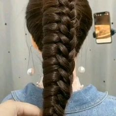 Easy Hairstyles For Long Hair, Braids For Long Hair, Diy Hairstyles, Hairstyles Videos, Hair Up Styles, Medium Hair Styles, Hair Styler, Hair Videos, Hair Hacks