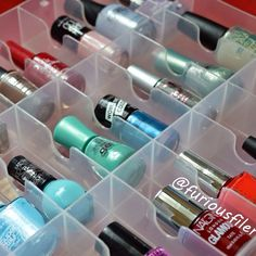Looking for an alternative solution to store nail polish? I found one! This box takes little space, it's see through and all polishes are stored upright. A full review is available now on my blog!
