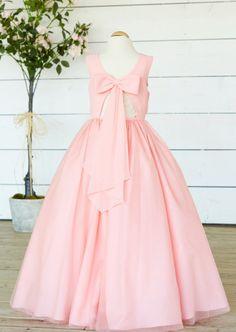 Chiffon Flowergirl Dress with Keyhole Back Bridesmaids, Ball Gowns, Chiffon, Flower Girl Dresses, Formal Dresses, Fashion, Ball Gown Dresses, Moda, Bridesmaid