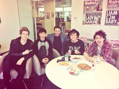 The boys today at the Sun offices #5SOS