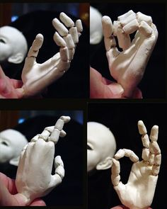Pat Lillich has written a tutorial for sculpting jointed hands for a large doll (BJD). She's using Paperclay and Polystyrene tubes to creat...