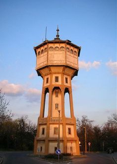 Svábhegy is a water tower located at Eötvös út in Budapest, Hungary - photo by mike59, via Wikimapia