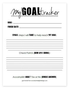 Beginning of the Year Goal Tracker to use with my middle school students.