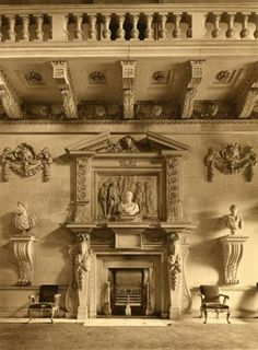 The Stone Hall, Houghton Hall, Norfolk, England. Designed by William Kent & built for England's first (de facto) Prime Minister Sir Rob...