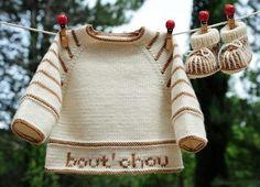 Baby fashion - roupa para bebê em tricô