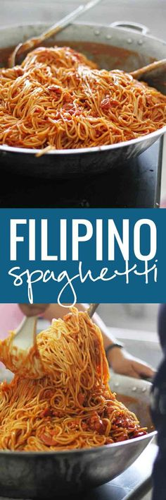 Authentic Filipino Spaghetti | http://pinchofyum.com