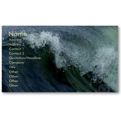Nature's Wave Business Card.