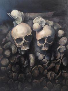 """Kindermord"" by Kate Kreps. 2015. Oil on wood."
