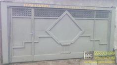 Portões de Chapa Lisa - Serralheria Noiva da Colina