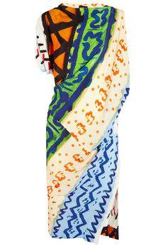 Vivienne Westwood Anglomania Harp printed crepe dress   NET-A-PORTER