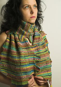 Colourful Handmade Knitted Woollen Scarf by linarekl on Etsy, $179.00