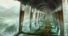 Concept art from Snowpiercer a sci-fi movie