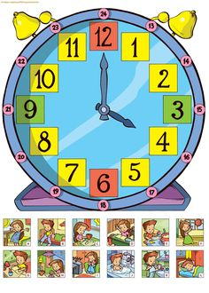 English Activities, Time Activities, Preschool Worksheets, Preschool Activities, Primary School, Pre School, Kids Education, Special Education, Math Clock
