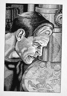 Doc Savage by Frank Hamilton Pulp Art, Savage, Hamilton, Bronze