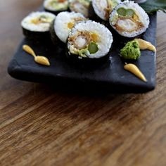 Knuspergamba in Sushirolle Rezept