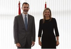 MyRoyals: King Felipe of Spain opened the GSMA Mobile World Congress 2015 in Barcelona and welcomed Queen Maxima of the Netherlands in her role as UN Secretary-General's Special Advocate for Inclusive Finance for Development, March 2, 2015