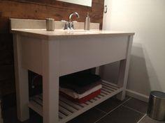 47 Open Shelf Bath Vanity  Sink Cabinet Modern by DandWElements, $375.00