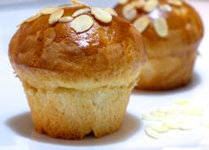 Tsoureki Muffins!  Tsoureki is a very popular Greek sweet bread, whose texture resembles a brioche, only it tastes so much better!