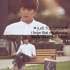 Heirs Quotes. Lee Min Ho as Kim Tan.
