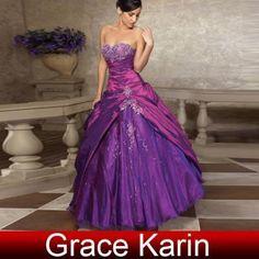 Purple beautiful quinceañera dress
