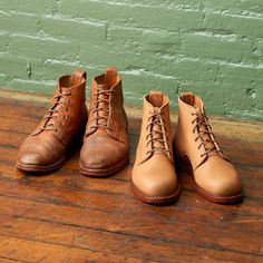 beautiful patina on these Blake Boots in Horween's vegetable tanned Essex leather