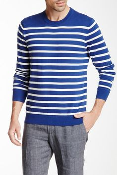 Breton Striped Crew Neck Pullover by Vince on @HauteLook