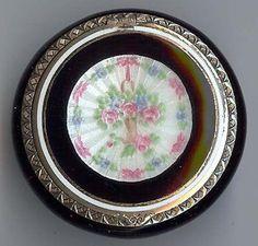 F B Vintage Beauty Sterling Silver Enamel Flower Basket Compact | eBay