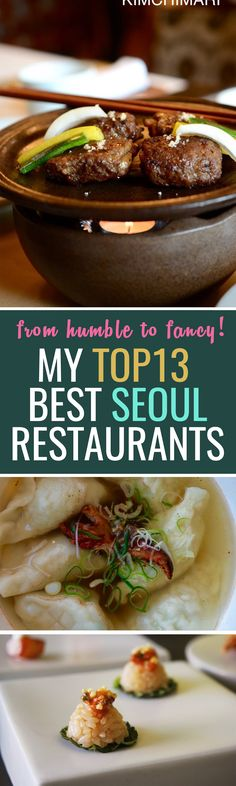 Top 13 best restaurants in Seoul!