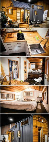 The 204 sq ft Kootenay tiny house on wheels from Greenleaf Tiny Homes in Eugene, Oregon,