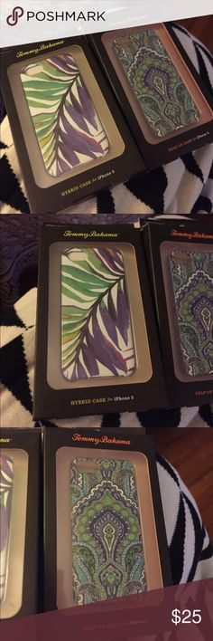 Lot of 2 tommy Bahama iPhone 5 cases  new 2 iPhone 5 cases Tommy Bahama Accessories Phone Cases