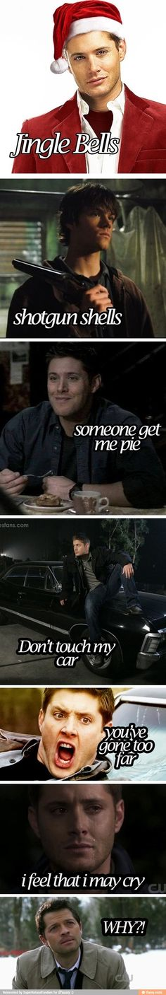Jingle bells - Supernatural style. That first pic tho...  someone call the fire department