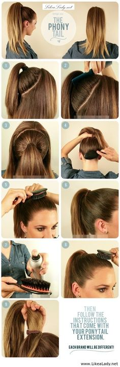 Double your ponytail for more volume