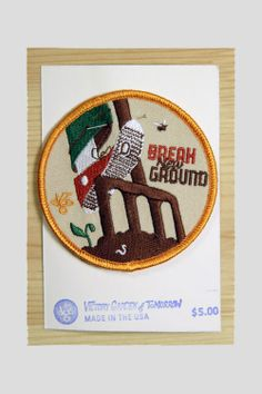 The Victory Garden of Tomorrow: Break Ground Badge Patch