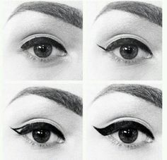 Step by step.  This precision eyeliner makes this easy.  Almost like a sharpie marker.