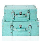 Aqua vintage koffers