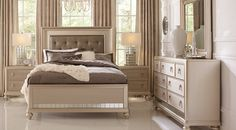 Affordable King Size Bedroom Furniture Sets for sale. Large selection of king bed sets: contemporary, modern, traditional, white, black, brown, cherry, espresso, etc #iSofa #roomstogo