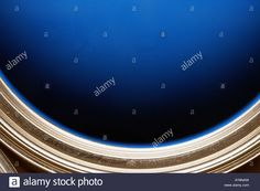 Download this stock image: Blue paint in paint can, extreme close-up, high angle view - AY8NAW from Alamy's library of millions of high resolution stock photos, illustrations and vectors.