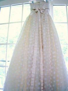 polka dot wedding dress - Google Search