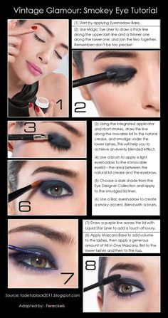 Makeup Tips: Beauty Tips: Eye Makeup: Beauty Tutorial: Vintage Glamour: Smokey Eye