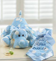 Prince Charming Swaddle 4 Pack -COLOR BLUE+Puppy with Personalized Blanket for Boy or Girl
