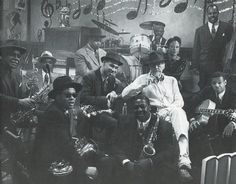 "Robert Altman sits with many of the jazz musicians who play on the soundtrack of ""Kansas City"", Robert Altman, Jazz Musicians, Soundtrack, Kansas City, Play, Concert, Image, Recital"