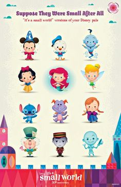 It's a SMALL World!  -They need to revamp Small World at WDW and put all these characters in it (except maybe the last two)