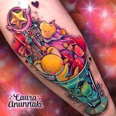 Badass Tattoos, Body Art Tattoos, Cool Tattoos, Awesome Tattoos, Artemis Tattoo, Laura Anunnaki, Bright Tattoos, Fusion Ink, Kinds Of Desserts