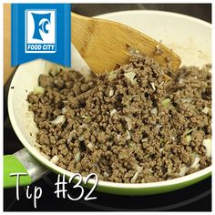 Cut ground beef into pieces before freezing to make defrosting smaller quantities much easier.