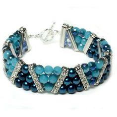 Molly Blue 3-Strand Bracelet | Free Jewelry Patterns | Prima Bead