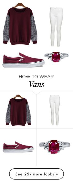 """""""Maroon"""" by wantedforbeingbeautiful on Polyvore featuring Joe's Jeans, Vans, women's clothing, women, female, woman, misses and juniors"""