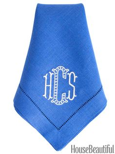 Monogrammed dinner napkins available in 101 colors!