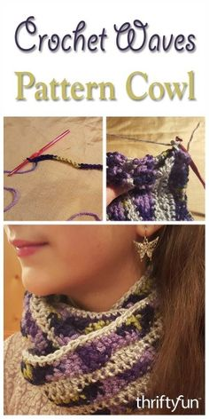 This is a guide about making a crochet waves pattern cowl. Crochet cowls can be made using many different crochet stitches.